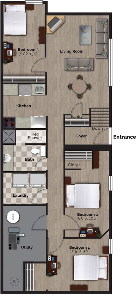 22A Bernick Drive - Lower, Floor Plans