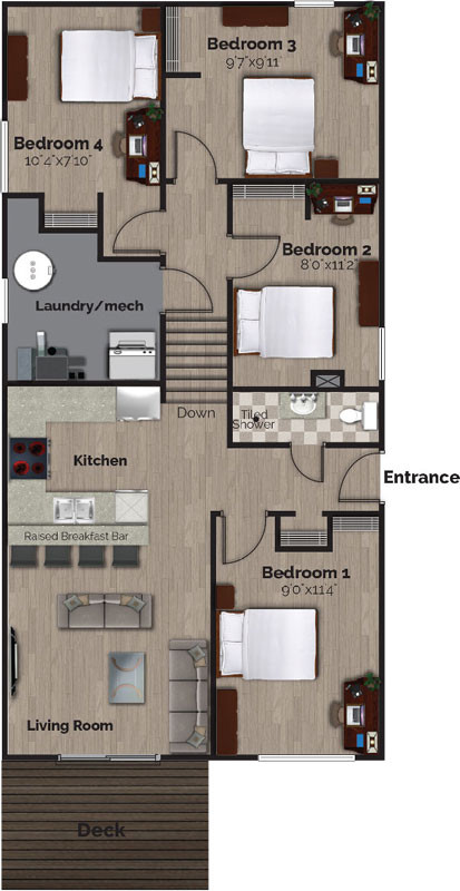 74 Bernick Drive – Lower, Floor Plans