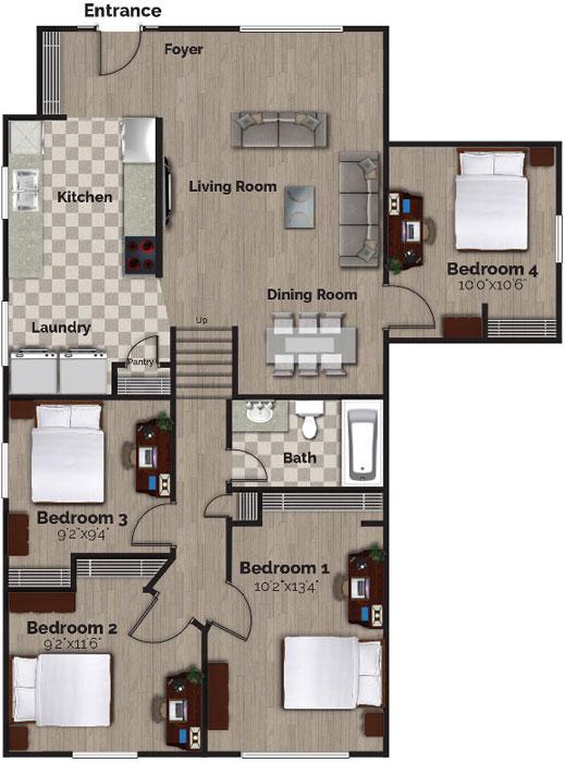 74 Bernick Drive – Upper, Floor Plan